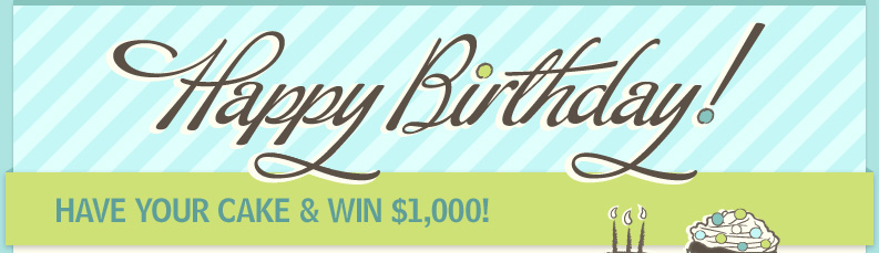 Happy Birthday: Have Your Cake and Win $1,000